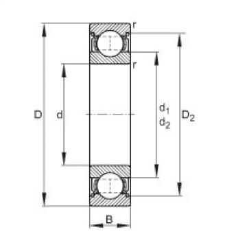 FAG Rolamento de esferas - 686-2Z
