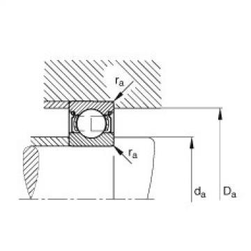 FAG Rolamento de esferas - S604-2Z