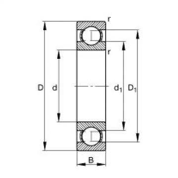 FAG Rolamento de esferas - S602-X