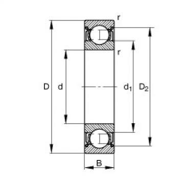 FAG Rolamento de esferas - S601-X-2Z