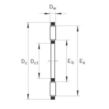 FAG Coroas de agulhas axiais - AXK2542