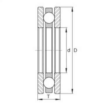 FAG Rolamento axial de esferas - FTO6