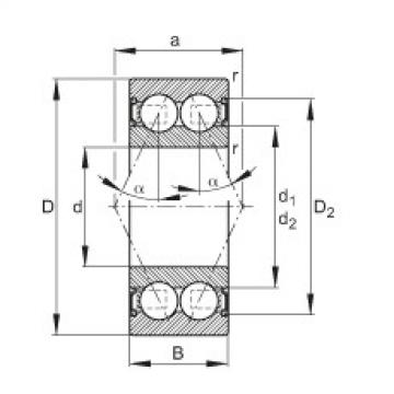FAG Rolamento angular - 30/7-B-2RSR-TVH
