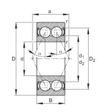 FAG Rolamento angular - 30/8-B-2RSR-TVH