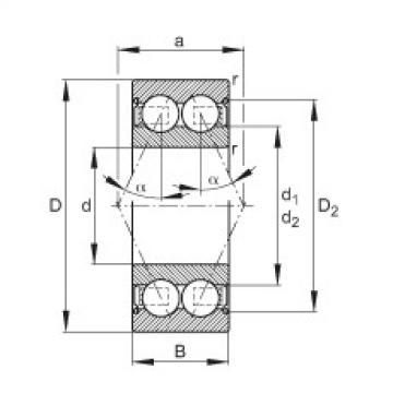 FAG Rolamento angular - 30/7-B-2Z-TVH