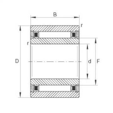 FAG Rolamento de agulhas - NKI5/16-TV-XL