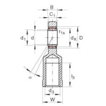 FAG Cabeças articuladas - GIR6-UK