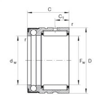 FAG Rolamento axial de agulhas e esferas - NX7-Z-TV-XL